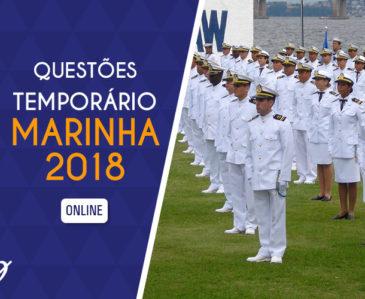 Questões Temporário Marinha 2018