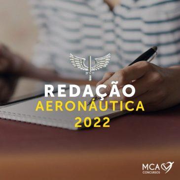 Redação – Concurso Aeronáutica 2022
