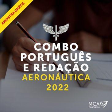 Combo Português e Redação Aeoronáutica 2022 – Amostra Grátis