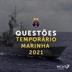 Questões Temporário Marinha – 2021 – Em Fevereiro!!