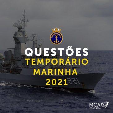 Questões Temporário Marinha 2021