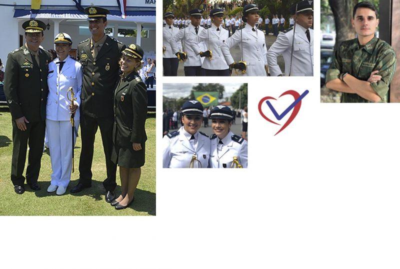 Mural de fotos alunos aprovados em Concurso Público das Forças Armadas - MCA Concursos