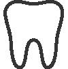 Ícone botão link para página de Odontologia do curso preparatório MCA para concursos militares das forças armadas e prefeituras