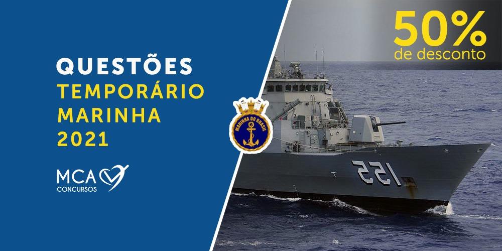 imagem banner Questões Temporário Marinha 2021
