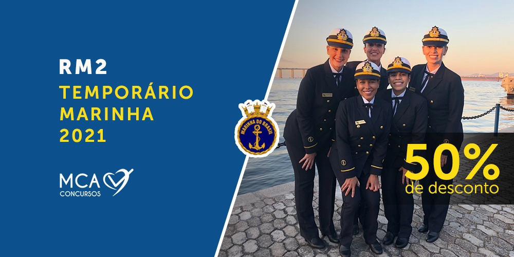 Imagem banner curso RM2 Temporário Marinha 2021